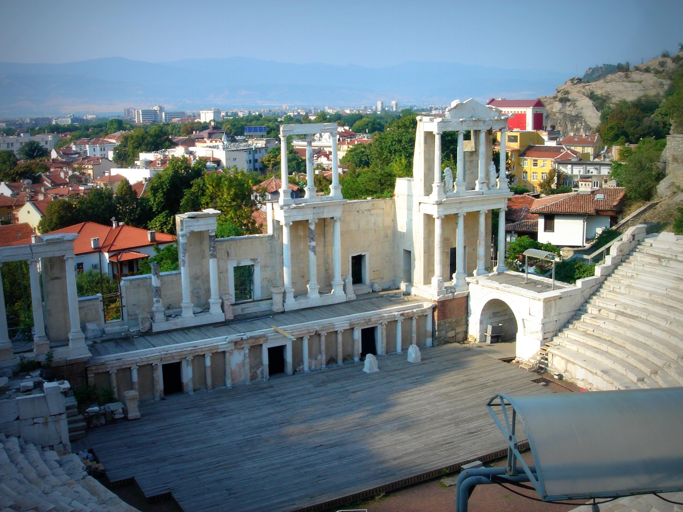 El teatro romano en Plovdiv